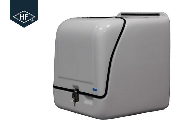 Waterproof Insulated Motorcycle Delivery Box , 113L White Motorbike Pizza Delivery Box